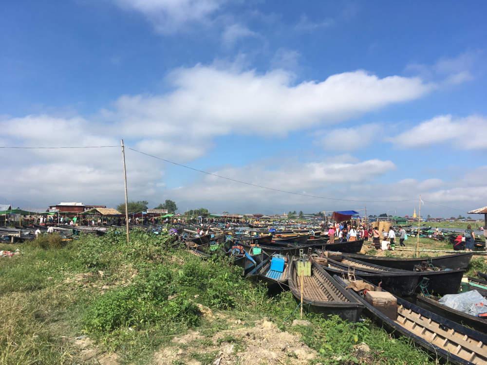 Marktandrang am Inle Lake