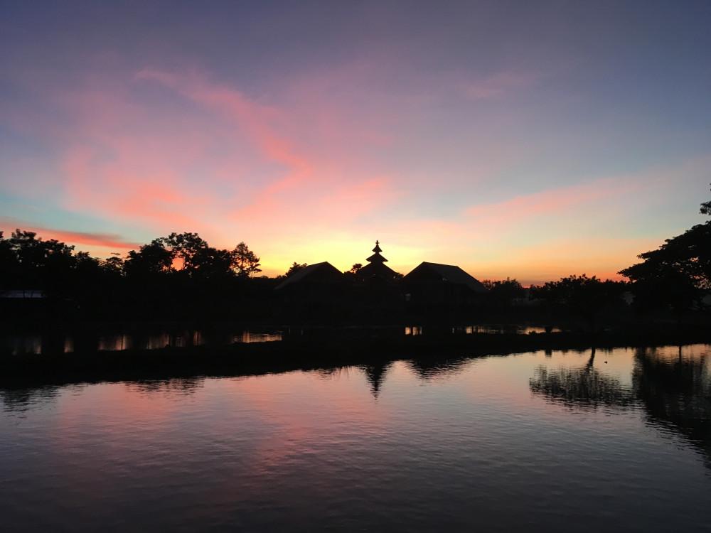 Nahe Mount Zwekabin - Sonnenuntergang