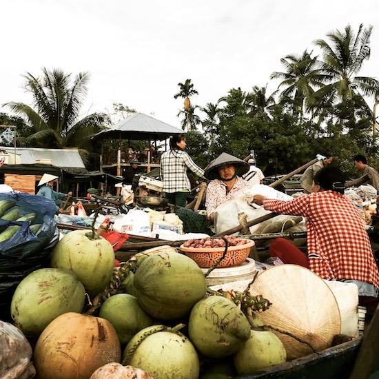 Floating Market im Mekong Delta