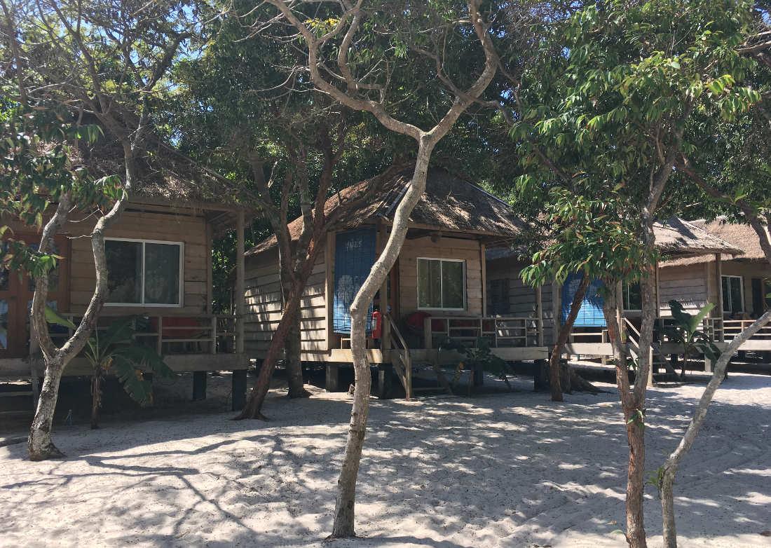 Hütten auf Koh Rong Samloem