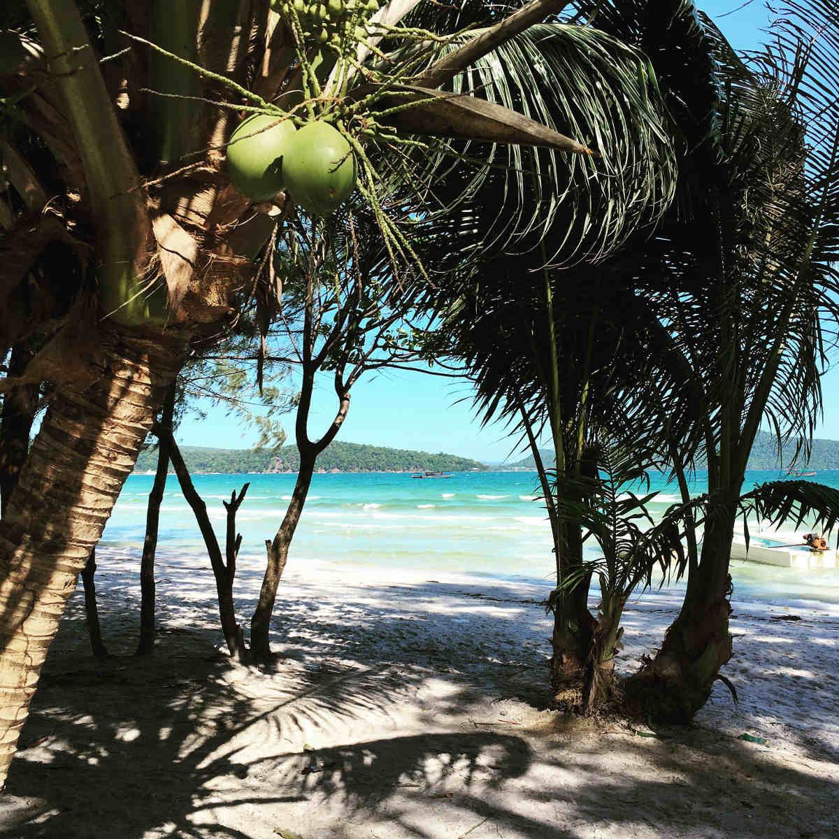Unter Palmen auf Koh Rong Samloem