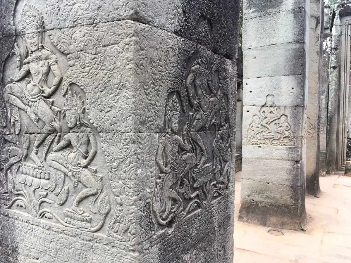 Tempelsäulen in Angkor