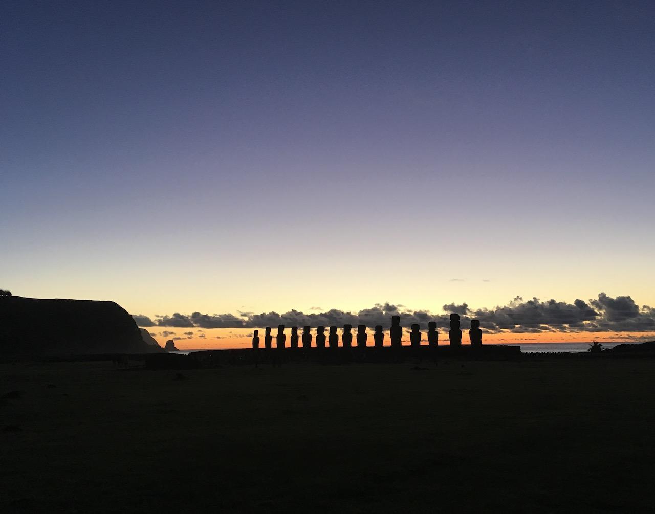 Ahu Tongariki – Sonnenaufgang
