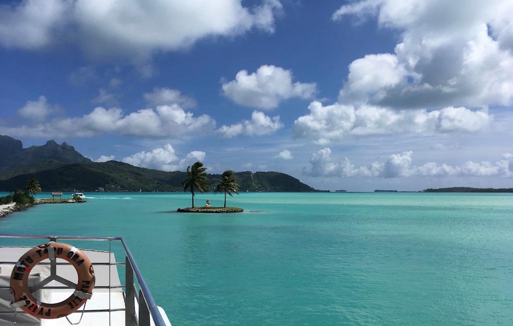 Das ist die Sicht vom Bora-Bora-Airport