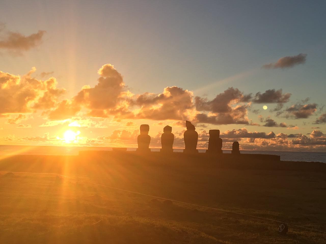 Ahu Tahai Sonnenuntergang