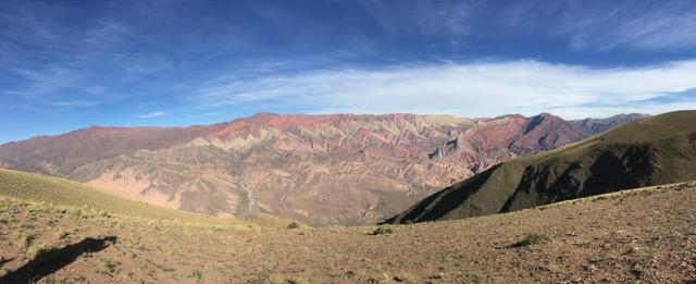 El Hornocal: Der Berg der 14 Farben, Blick aus 4700 Metern Höhe
