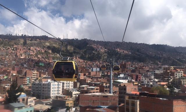 Die Seilbahn (Teleférico) in La Paz.
