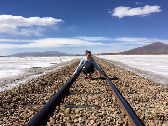 Stillgelegte Gleise in der Nähe des Salar de Uyuni.