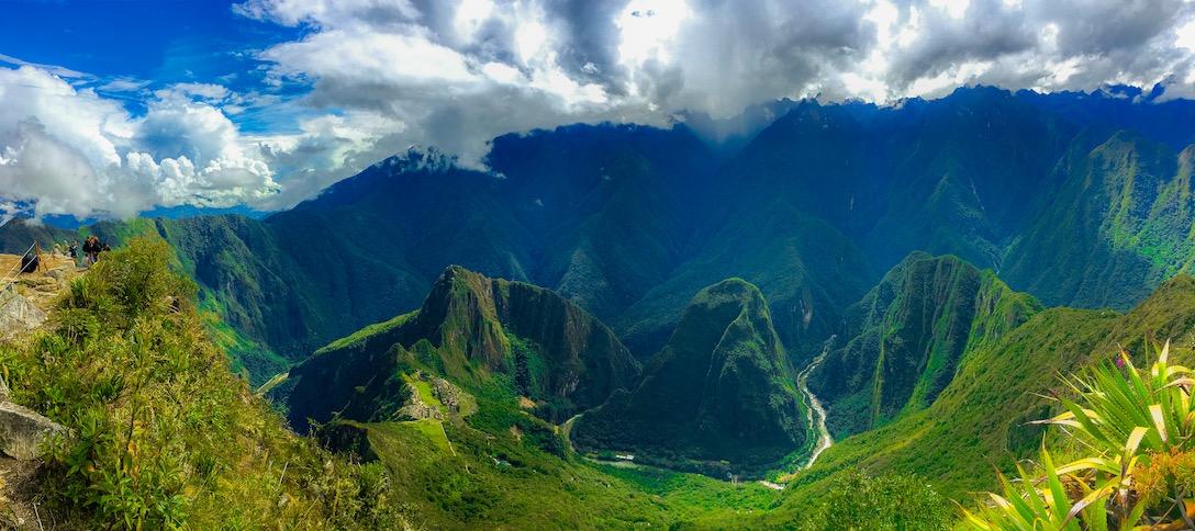 Machu Picchu vom Gipfel des Machu Picchu aus gesehen