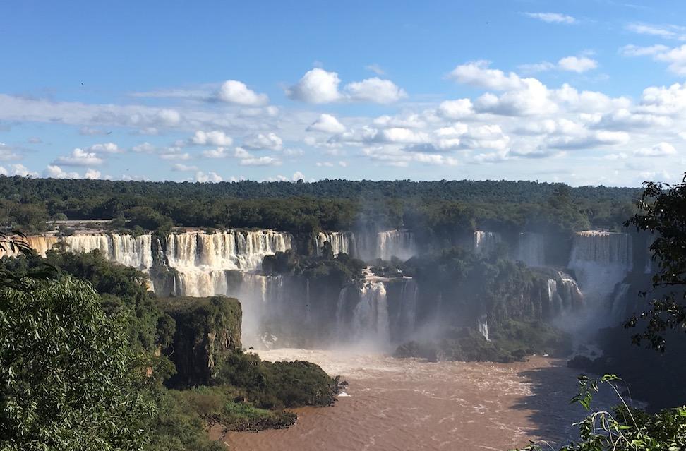 Der erste Blick auf die Iguaçu-Fälle.