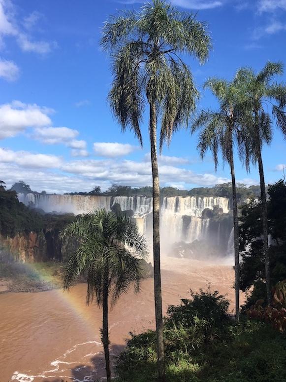 Iguaçu-Fälle - ein bissl Kitsch muss sein.