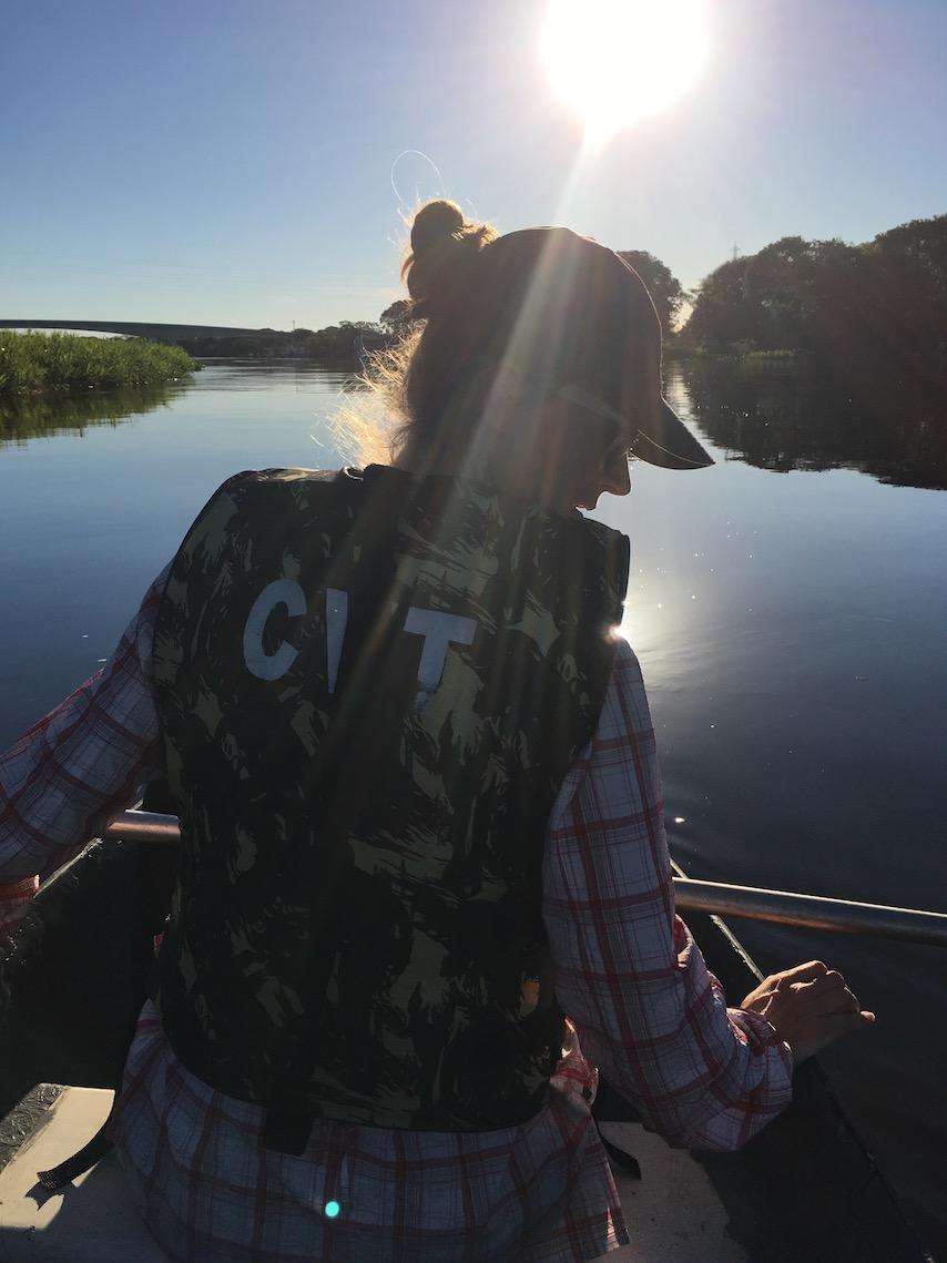 Pantanal: Dieses Kanu ist mir zu wacklig.