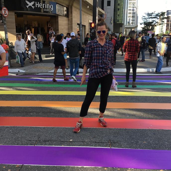 São Paulo: Gay Parade, es gab sogar bunte Doritos