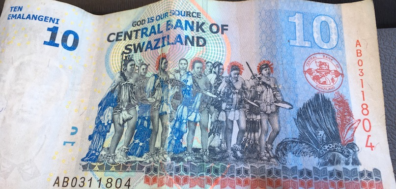 swasischer Geldschein: so sahen die traditionellen Tänzer früher aus...