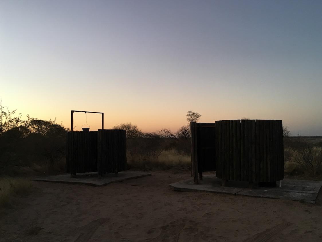 CKGR Campingdusche und Toilette